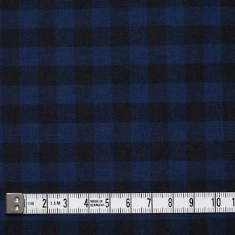 コットン×ブロックチェック(ブルー&ブラック)×シーチング_全4色 サムネイル4