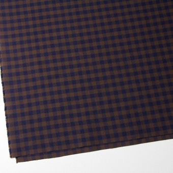 コットン×ブロックチェック(ブラウン&ネイビー)×シーチング_全4色 サムネイル2