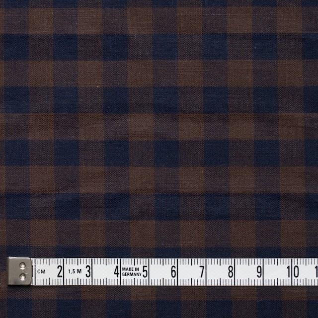 コットン×ブロックチェック(ブラウン&ネイビー)×シーチング_全4色 イメージ4