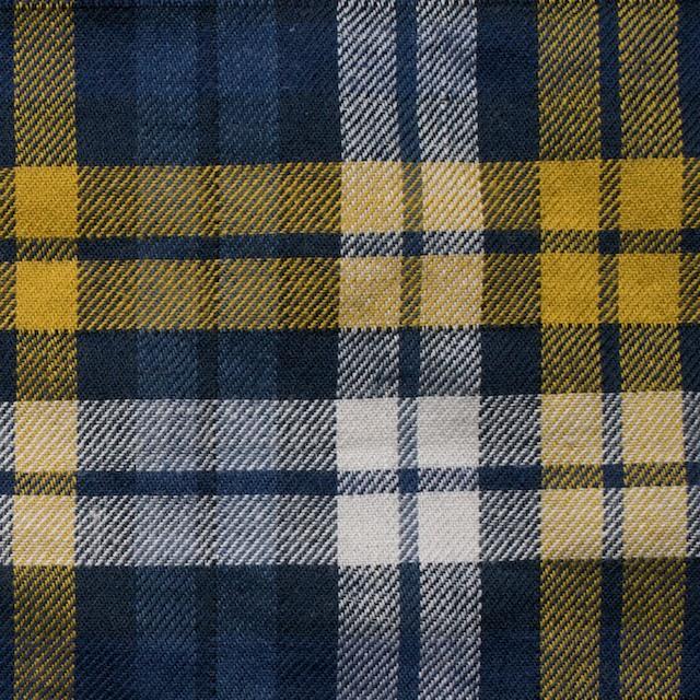 コットン&ポリウレタン×タータンチェック(イエロー&ブルー)×ビエラ_全3色 イメージ1