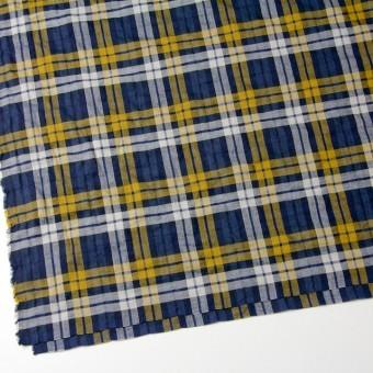 コットン&ポリウレタン×タータンチェック(イエロー&ブルー)×ビエラ_全3色 サムネイル2