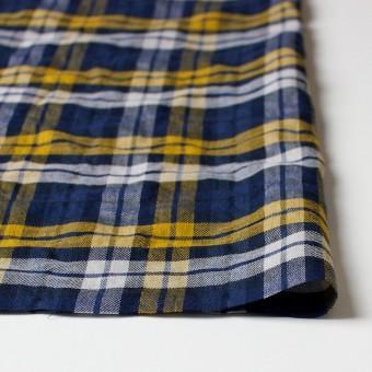 コットン&ポリウレタン×タータンチェック(イエロー&ブルー)×ビエラ_全3色 サムネイル3
