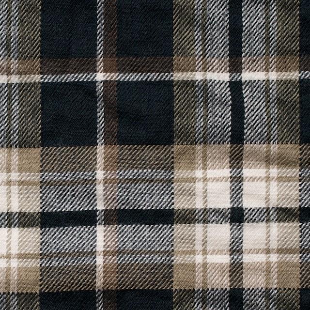 コットン&ポリウレタン×タータンチェック(ブラウン&ブラック)×ビエラ_全3色 イメージ1