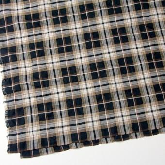 コットン&ポリウレタン×タータンチェック(ブラウン&ブラック)×ビエラ_全3色 サムネイル2