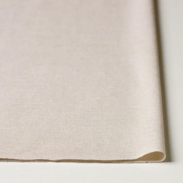 コットン&リネン×無地(アイボリー)×天竺ニット_全4色 イメージ3