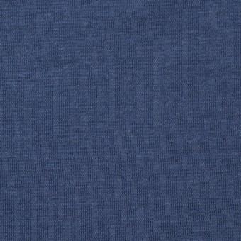コットン&リネン×無地(アイアンブルー)×天竺ニット_全4色 サムネイル1