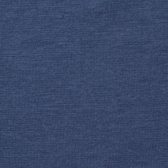 コットン&リネン×無地(アイアンブルー)×天竺ニット_全4色 イメージ1