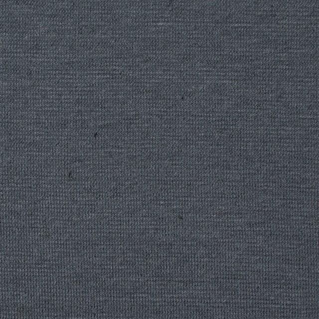 コットン&リネン×無地(スチールグレー)×天竺ニット_全4色 イメージ1