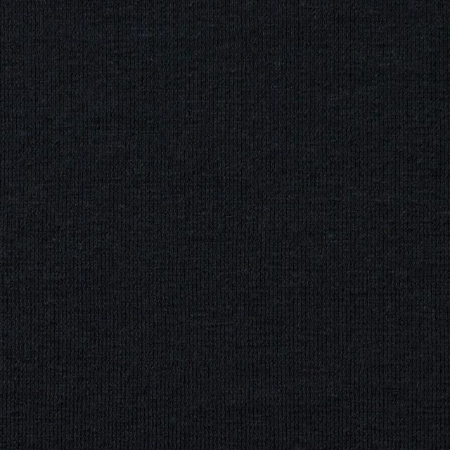 コットン&リネン×無地(ブラック)×天竺ニット_全4色 イメージ1