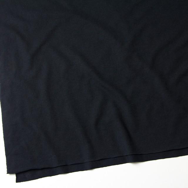 コットン&リネン×無地(ブラック)×天竺ニット_全4色 イメージ2
