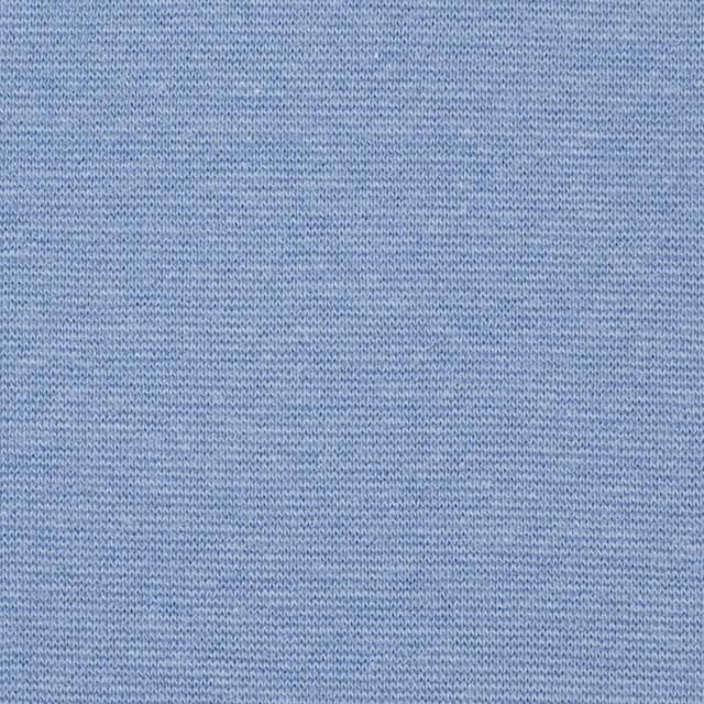 コットン&ポリウレタン×無地(サックス)×スムース丸編みニット_全2色 イメージ1