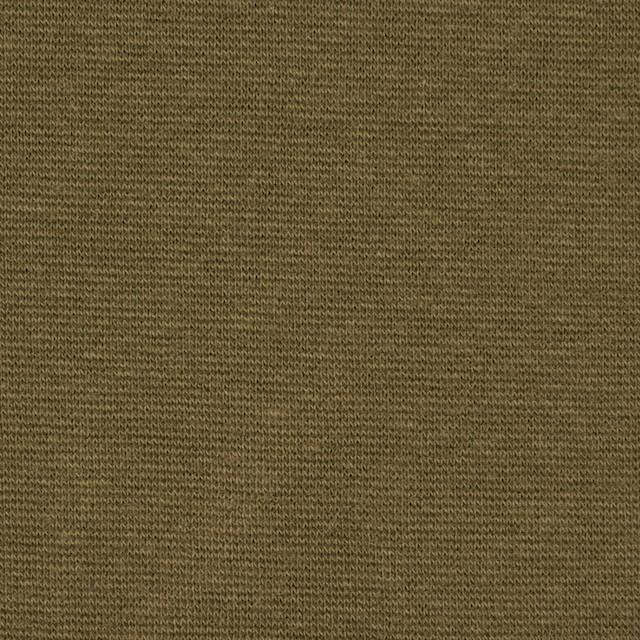 コットン&ポリウレタン×無地(オリーブ)×スムース丸編みニット_全2色 イメージ1