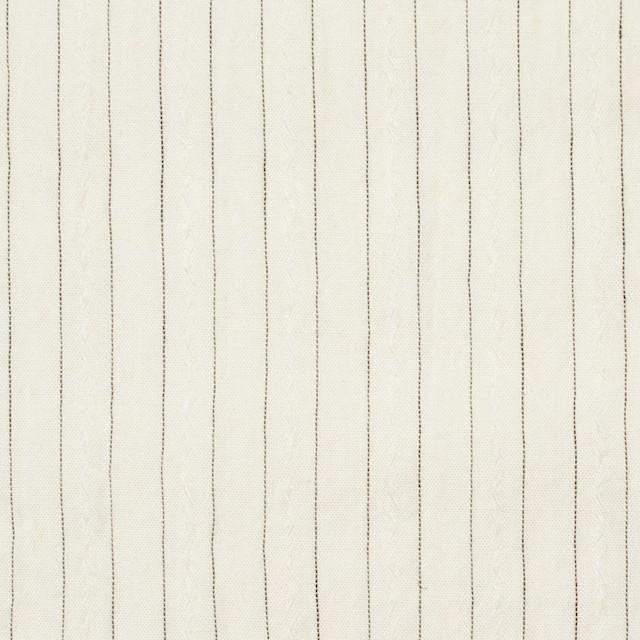 コットン&ウール×ストライプ(キナリ)×ローンジャガード イメージ1
