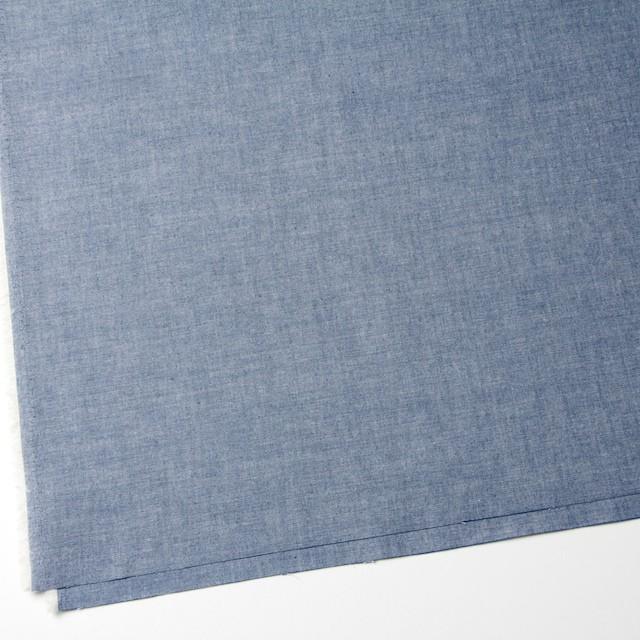 コットン&ウール×無地(ブルー)×ダンガリー_全3色 イメージ2