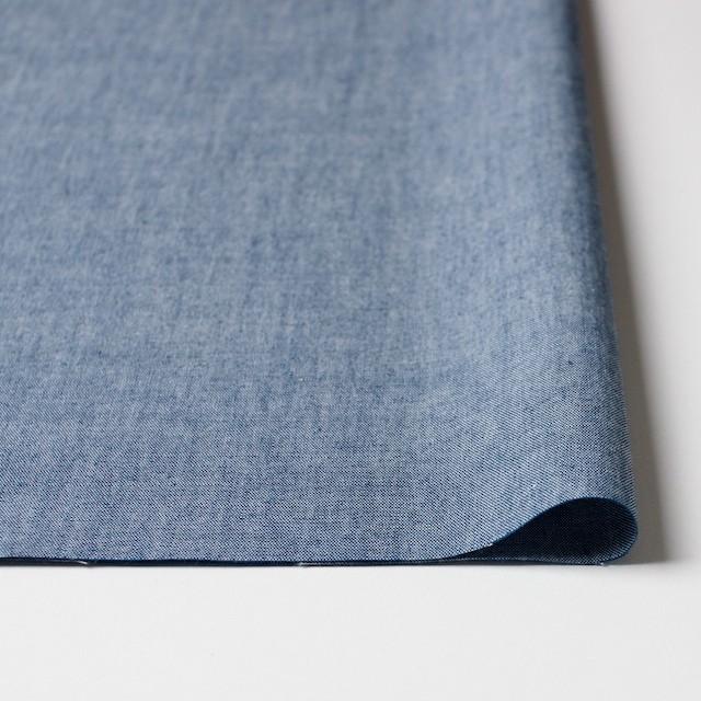 コットン&ウール×無地(ブルー)×ダンガリー_全3色 イメージ3