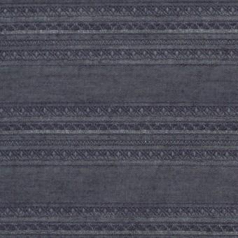 コットン&ウール×無地(ダークブルーグレー)×ローンジャガード_全5色 サムネイル1