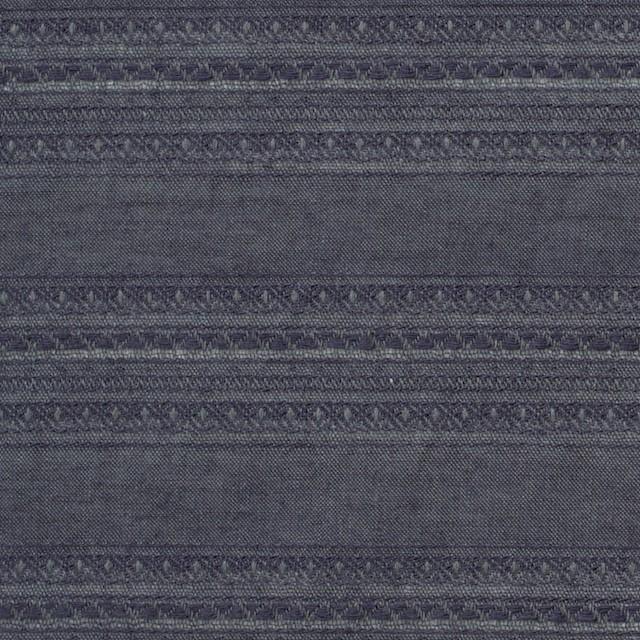 コットン&ウール×無地(ダークブルーグレー)×ローンジャガード_全5色 イメージ1