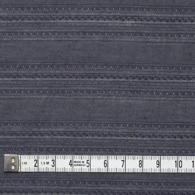 コットン&ウール×無地(ダークブルーグレー)×ローンジャガード_全5色 イメージ4