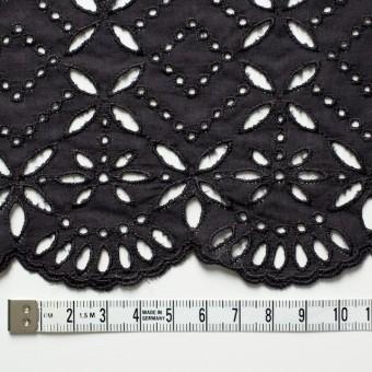 コットン×ボーダー(ダークグレイッシュパープル)×ローン刺繍No2_全4色 サムネイル4