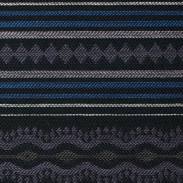 コットン×幾何学模様(ブルー)×ジャガード イメージ1