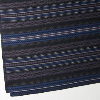 コットン×幾何学模様(ブルー)×ジャガード サムネイル2