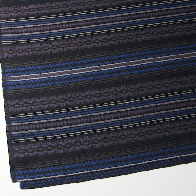 コットン×幾何学模様(ブルー)×ジャガード イメージ2