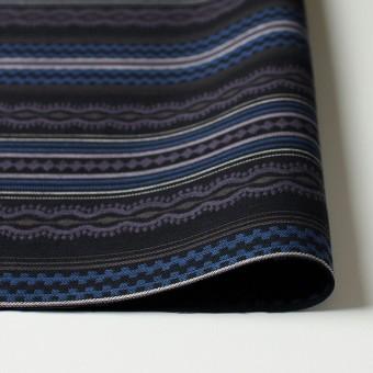 コットン×幾何学模様(ブルー)×ジャガード サムネイル3