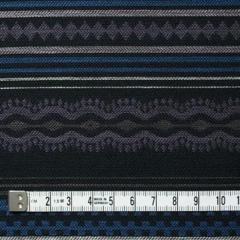 コットン×幾何学模様(ブルー)×ジャガード サムネイル4