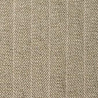 コットン&ウール混×ストライプ(カーキベージュ)×ヘリンボーン サムネイル1