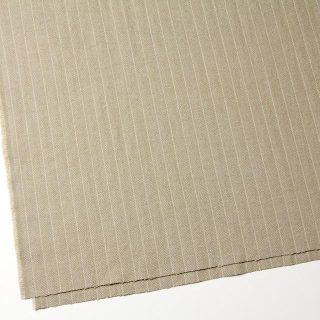 コットン&ウール混×ストライプ(カーキベージュ)×ヘリンボーン イメージ2