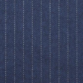 コットン×ストライプ(グレイッシュブルー)×ヘリンボーン_全3色 サムネイル1