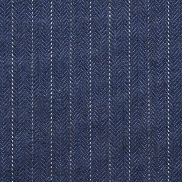 コットン×ストライプ(グレイッシュブルー)×ヘリンボーン_全3色 イメージ1