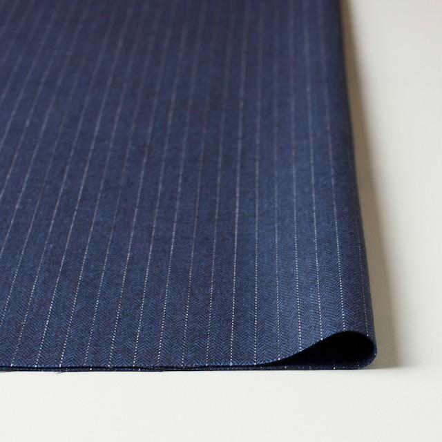 コットン×ストライプ(グレイッシュブルー)×ヘリンボーン_全3色 イメージ3