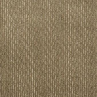 コットン&ポリエステル混×無地(カーキベージュ)×細コーデュロイ・ストレッチ_全3色 サムネイル1