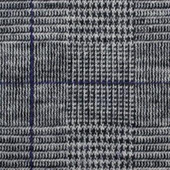 ウール×グレンチェック(グレー&パープル)×Wニット サムネイル1