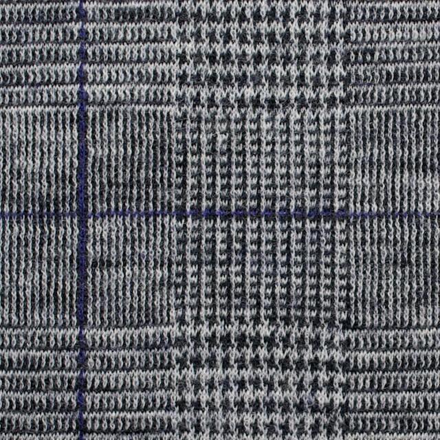ウール×グレンチェック(グレー&パープル)×Wニット イメージ1