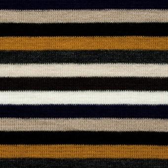 テンセル&ウール混×ボーダー(オレンジ&パープル)×天竺ニット_全2色 サムネイル1
