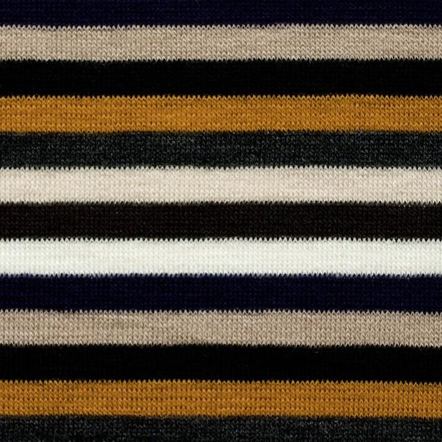 テンセル&ウール混×ボーダー(オレンジ&パープル)×天竺ニット_全2色 イメージ1