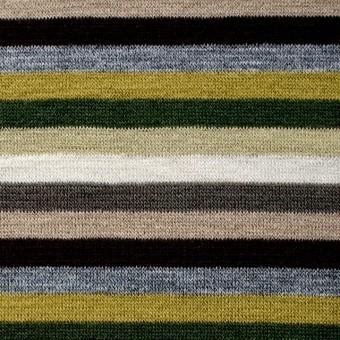 テンセル&ウール混×ボーダー(ライム&グリーン)×天竺ニット_全2色 サムネイル1