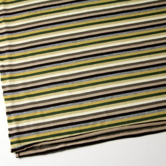 テンセル&ウール混×ボーダー(ライム&グリーン)×天竺ニット_全2色 サムネイル2