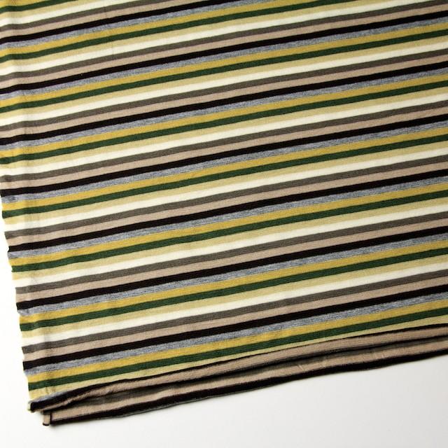 テンセル&ウール混×ボーダー(ライム&グリーン)×天竺ニット_全2色 イメージ2