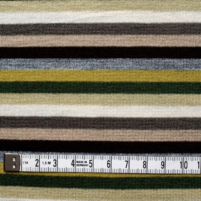 テンセル&ウール混×ボーダー(ライム&グリーン)×天竺ニット_全2色 イメージ4