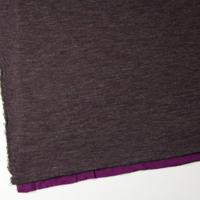 アクリル&テンセル×無地(パープル&グレー)×Wニット_全2色 イメージ2
