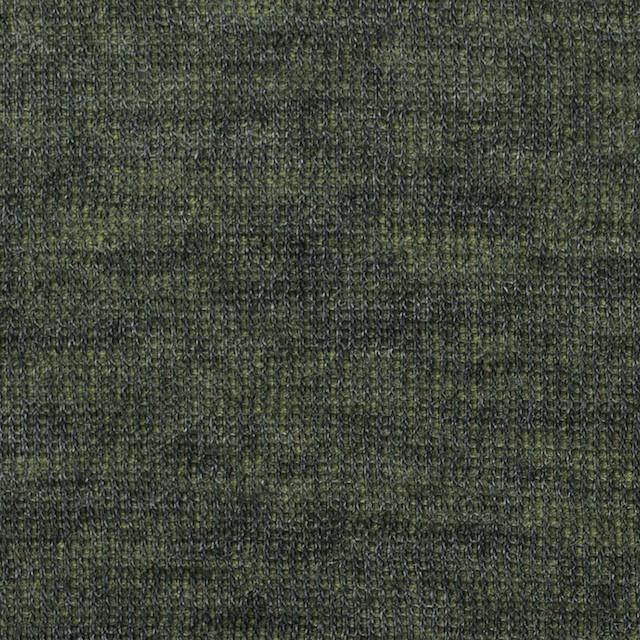 アクリル&テンセル×無地(イエローグリーン&グレー)×Wニット_全2色 イメージ1