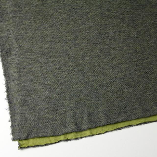 アクリル&テンセル×無地(イエローグリーン&グレー)×Wニット_全2色 イメージ2