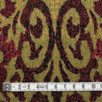アクリル&ウール×幾何学模様(マスタード&レッド)×ジャガードニット_全3色 サムネイル4
