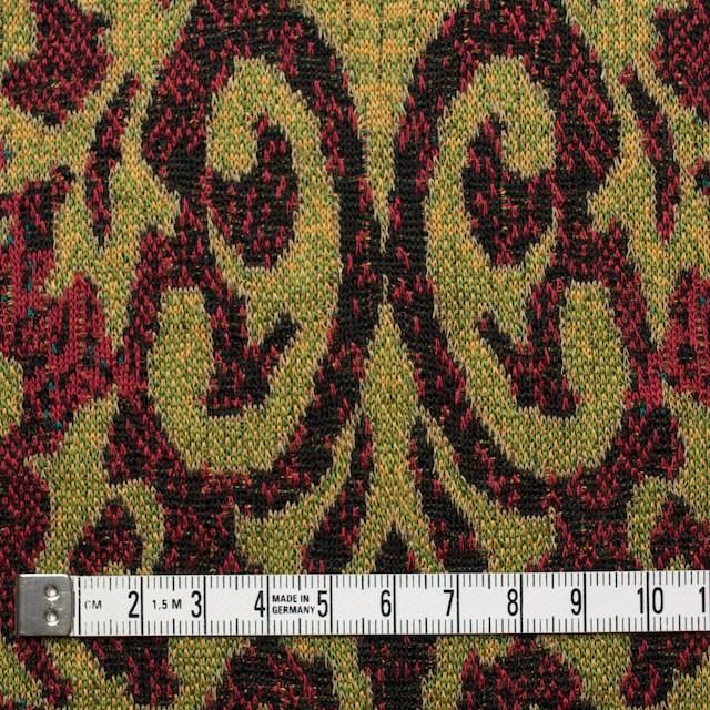 アクリル&ウール×幾何学模様(マスタード&レッド)×ジャガードニット_全3色 イメージ4
