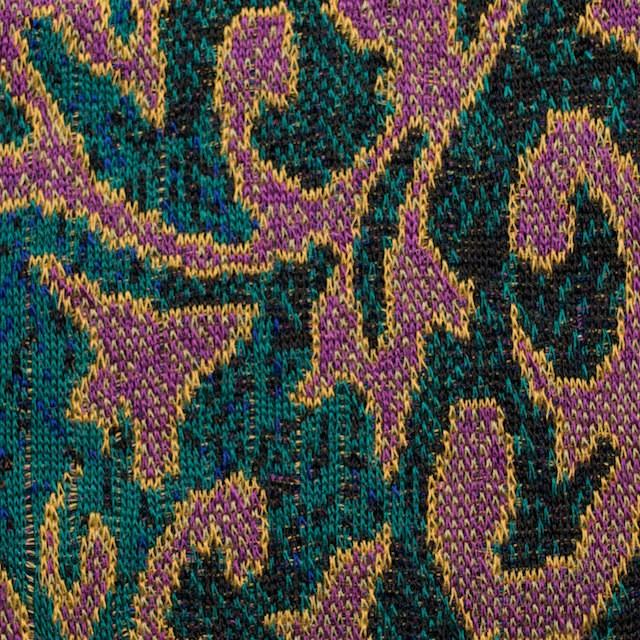 アクリル&ウール×幾何学模様(チリアンパープル&エメラルドグリーン)×ジャガードニット_全3色 イメージ1