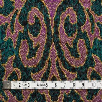 アクリル&ウール×幾何学模様(チリアンパープル&エメラルドグリーン)×ジャガードニット_全3色 サムネイル4