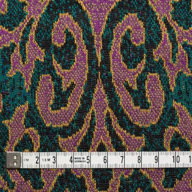 アクリル&ウール×幾何学模様(チリアンパープル&エメラルドグリーン)×ジャガードニット_全3色 イメージ4